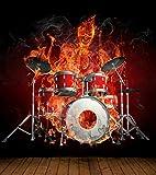 Vlies XXL Poster Fototapete Tapete Flammen Burn brennendes