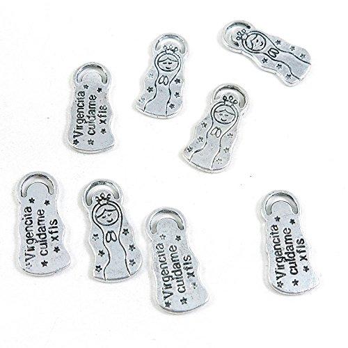 580 piezas de joyería de tono plateado antiguo G6AK2M Virgencita Cuidame muñeca manualidades artesanía manualidades abalorios