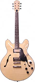 Oscar Schmidt OE30F Double Cut 6 Strings Classic Semi Hollow Body Electric Guitar - Flame Flame Natural