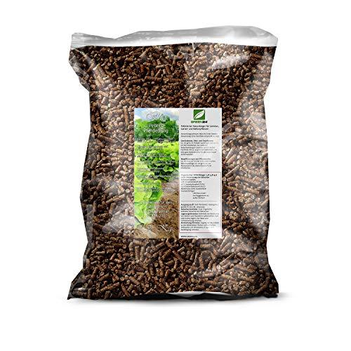 GREEN24 Premium Naturdünger Pellets 5 kg für Gemüse, Obst, Garten- und Balkonpflanzen, Bio Pferdedung geruchsarm