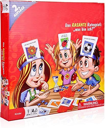 COSMOERY Hedbanz, Hedbanz Brettspiele Spieleklassiker Kinderspiel Kartenspiele Rätselraten was Bin ICH - deutsche Version