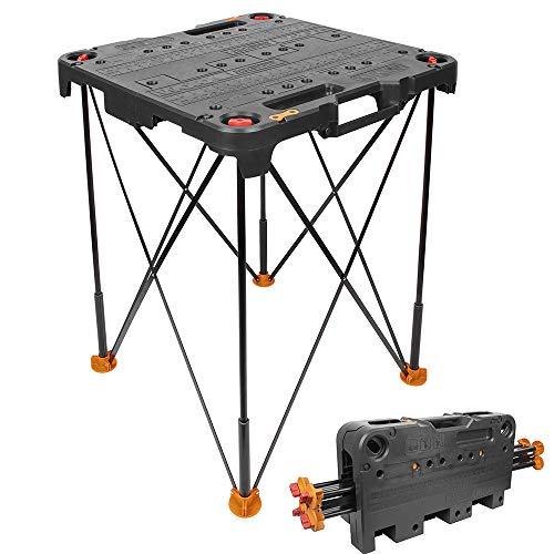 WORX WX066 Sidekick Arbeitstisch – Klappbarer Werktisch in Schwarz – Zum Schneiden & Fixieren unterschiedlicher Materialien – Lässt sich mit weiteren Sidekick Tischen verbinden