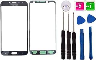 غطاء عدسة زجاجي علوي أمامي أمامي لإصلاح الشاشة لهواتف Samsung Galaxy J4 (2018) J400F J400G أجزاء وأدوات الهاتف المحمول (لا...