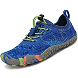 SAGUARO Unisex-Child Anti-Skid Rubber Sole Water Shoes Kids Boys Girls Slip Resistant Barefoot Climbing Hiking Athletic Sneakers All Blue Little_Kid 12