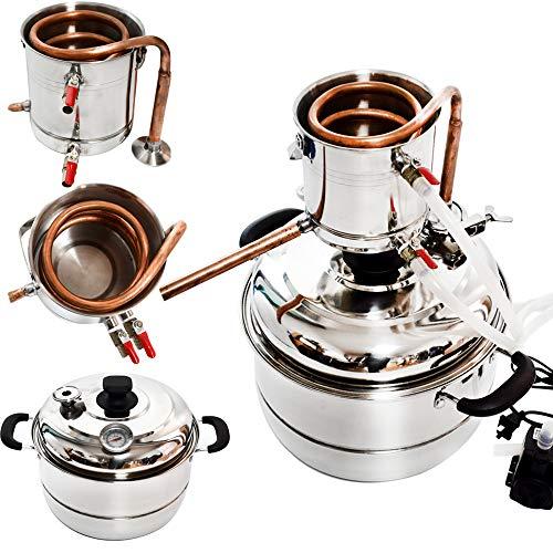 Kayla-lan 10L Zuhause Rostfreier Stahl Wein Wasseraufbereiter Maschine (Kupfer)