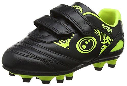 OPTIMUM Razor, Scarpe da Calcio Unisex-Bambini, Giallo (Black/Yellow), 35 EU