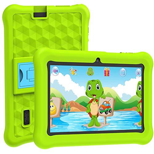 Tablet Bambini WiFi Android 10 per 7 Pollici Certificazione Google con 2GB RAM + 32GB ROM e Giochi Educativi.