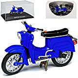 Simson Schwalbe KR51 Blau 1964-1986 DDR 1/24 Ixo Modell Motorrad