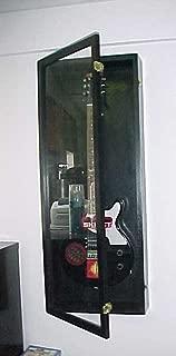 Guitar Display Case Wood Electric Guitar Case (Black Felt, Black)