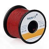 bobina di cavi a trefoli calibro 20(80 ft), cavo nero rosso collegamento cavo elettrico cavo di prolunga per strisce led cavo 12v / 24v dc, cavo flessibile in rame stagnato 20 awg per led