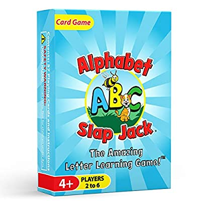 Alphabet Slap Jack - a Fun ABC Letter Learning Card Game - Kids Learn Upper/Lowercase Letter Recognition and Letter Sounds While Playing a Fun Game – Preschool Thru 1st Grade by Arizona GameCo