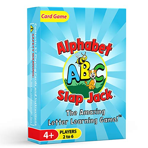 Arizona GameCo Alphabet Slap Jack  a Fun ABC Letter Learning Card Game  Kids Learn Upper/Lowercase Letter Recognition and Letter Sounds While Playing a Fun Game – Preschool Thru 1st Grade