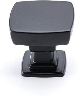 homdiy Black Cabinet Knobs Solid Drawer Knobs- LS9016BK Rounded Dresser Knobs Kitchen Cabinet Hardware Black Cabinet Knobs...