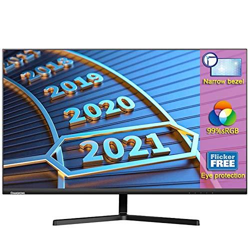 27 Pulgadas Monitores, Full HD (1920 X 1080) Monitor Pc con Interfaz HDMI Y VGA, Brillo 250 CD/M², Montaje VESA, Soporte Ajustable