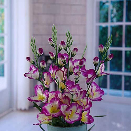 Kunstbloem Home Decor Simulatie Boeketten, Gladiolus, Decoratieve Bloemen, Distel Bloem, Nep Bloem Groene Planten (5St)