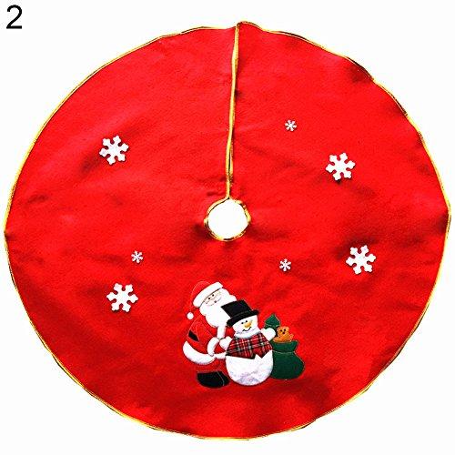 Rond Bonhomme de neige Père Noël sapin de Noël Jupe Stands Ornaments Home Party Decor, #2, as detail