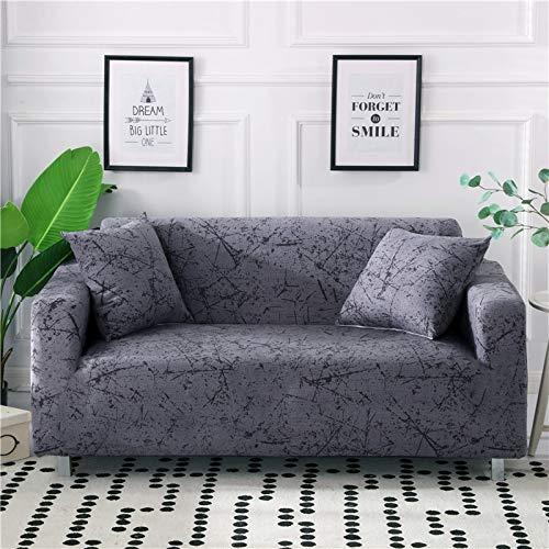 PPMP Funda de sofá elástica elástica para Sala de Estar Fundas universales para sillas Funda de sofá seccional Funda de sillón en Forma de L A12 3 plazas