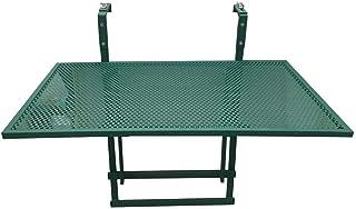 AltoBuy ALINDA - Table de Balcon Pliable Verte Rectangulaire