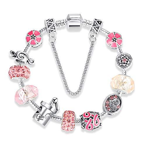 Yearinspace Europa und Amazon Verkauf von Aktien Mädchen Valentinstag Geschenk DIY Perlen Armband Perlen Schmuck grenzüberschreitende Versorgung (Rosa)