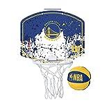Wilson Mini canasta de baloncesto NBA TEAM MINI HOOP, GOLDEN STATE WARRIORS, Plástico