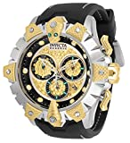 Invicta Men's Reserve Venom Stainless Steel Quartz Watch with Silicone Strap, Black, 26 (Model: 32132)