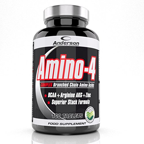 Anderson Amino-4 100 tablets BCAA arginina AKG Zinco aminoacidi ramificati - 100 Compresse