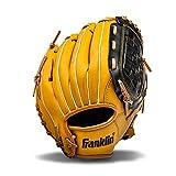Franklin Sports Baseball and Softball Glove - Field Master - Baseball and Softball Mitt Tan, 10.5'
