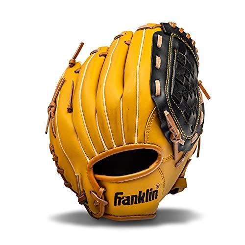 "Franklin Sports Baseball and Softball Glove - Field Master - Baseball and Softball Mitt Tan, 10.5"""