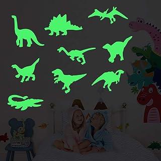 45 PCS Luminous Dinosaur Wall Stickers, Dinosaur Decor for Boys,Glow in The Dark Wall Decals,Dinosaur Decorations for Boys...