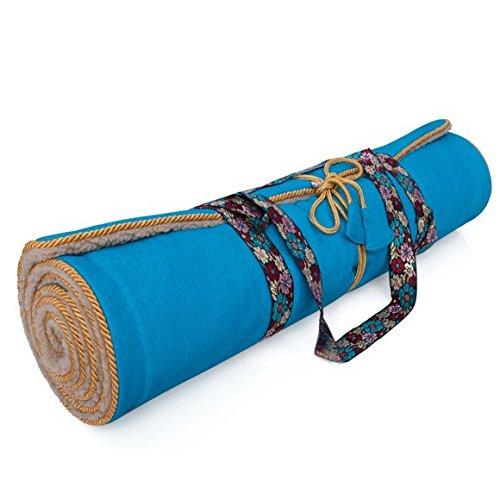 Holistic Silk Yoga Rug Mat - aqua