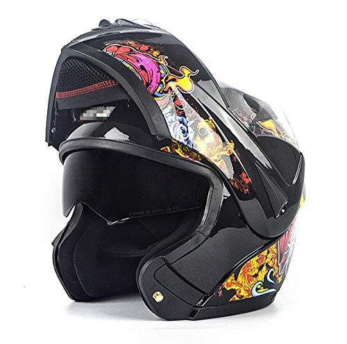 YYXT Casco Modular de Motos,Casco de Moto con Bluetooth Integrado ECE Homologado para Patinete Electrico Motocicleta Bicicleta Scooter con Gafas de Doble Protección Mujer y Hombre