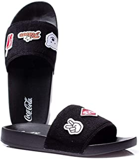 Chinelo Coca Cola Slide Patches - Preto
