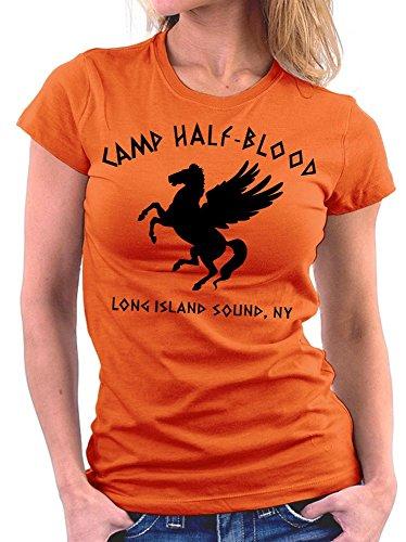 Camp Halfblood woman T-shirt, Größe M, Orange