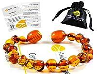 Un certificat d'authenticité est fourni avec chaque produit. Fabriqué à la main et garanti 100% en Ambre de la Baltique Garantie de Remboursement!!! Ambre de grande qualité Emballé dans une pochette cadeau en Organza. Fermoir à vis. bracelet 14 cm.