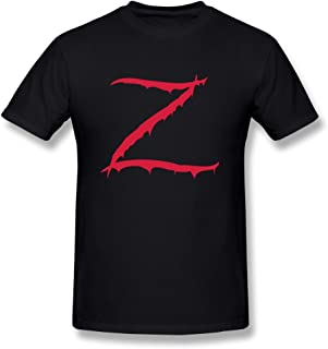 TeaTime Men's T Shirts Z is Zombie Black