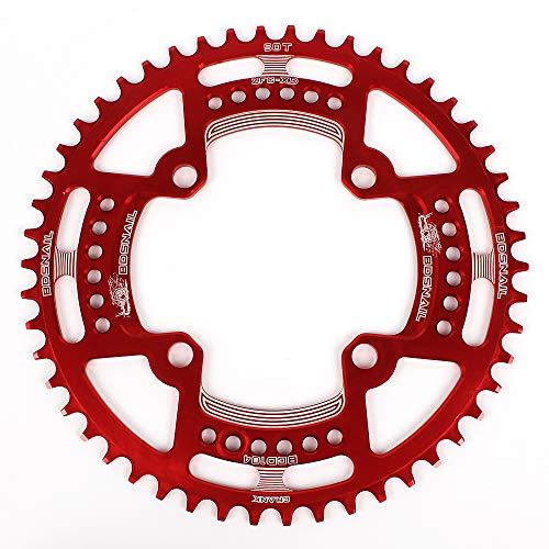 Fesjoy Cadena de Bicicleta 104BCD Bicicleta de montaña Anillo de Cadena única Disco Angosto Ancho Plato 44T / 46T / 48T / 50T / 52T