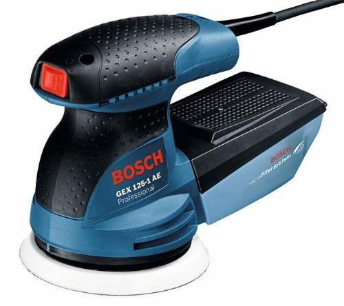 Bosch Professional 0601387501 Levigatrice Roto Orbitale GEX 125-1 AE, Platorello da 125...