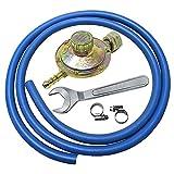 Kit regolatore bassa pressione per cucine stufe e barbecue gas + 2 mt di tubo +...