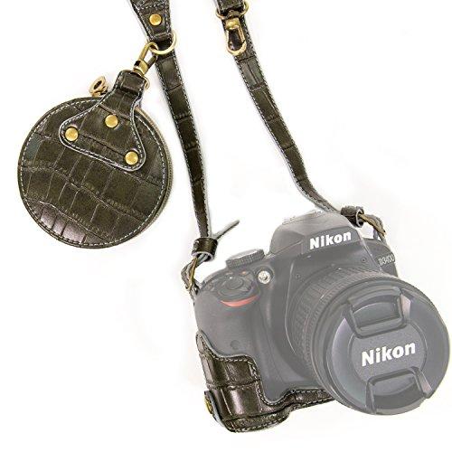 MegaGear MG1046 Estuche para cámara fotográfica Estuche Duro Verde - Funda (Estuche Duro, Nikon, Nikon D3400 Nikon D3300 Nikon D3200 Nikon D3100, Tirante para Hombro, Verde)