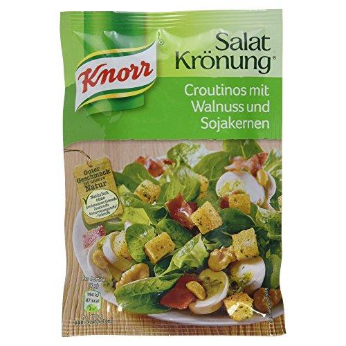 Knorr Salatkrönung Croutinos mit Walnuss und Sojakernen, 25g