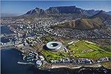 Poster 91 x 61 cm: Kapstadtstadion und Tafelberg von David