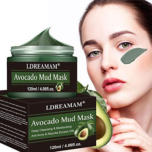 Gesichtsmaske Avocado,Mitesser Maske,Blackhead Remover Maske,Anti Aging Mask,Gesichtsmaske Avocado,gegen unreine Haut,Akne,fettige Haut& Mitesser,Natural Gesicht & Körper Maske
