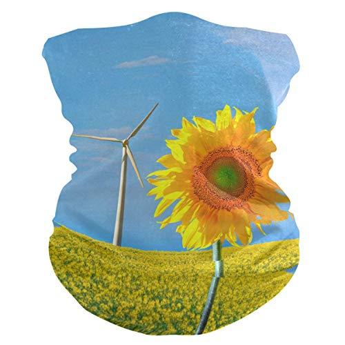 MJDIY 16-in-1 Headwear haarband, zonnebloem en wind, hoofdbedekking, magische hoofdbanden voor de jacht in de open lucht