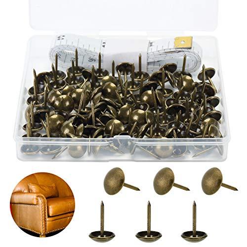 Mr. Pen- Upholstery Tacks, 100 Pack, Furniture Tacks, Decorative Nail Heads, Upholstery Tacks for Furniture, Decorative Tacks, Upholstery Pins, Upholstery Nails, Antique Furniture Brass Tacks