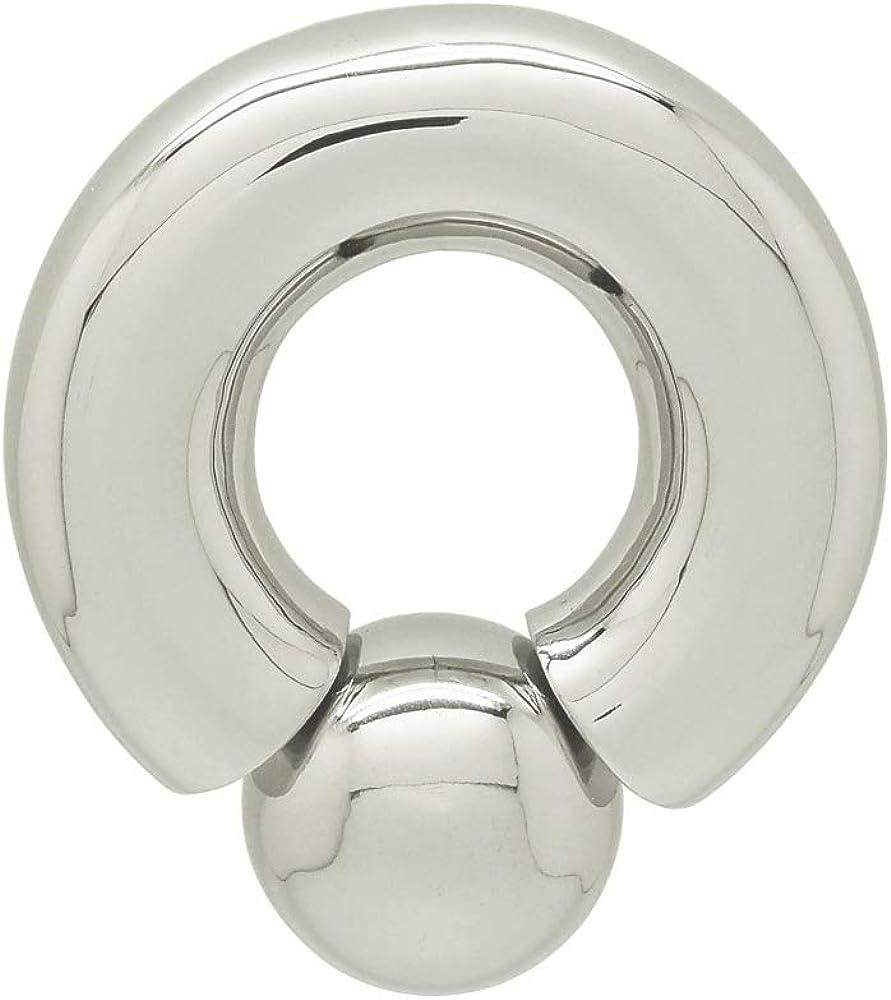 ACECHANNEL Stainless Steel Piercing Ring Body Jewelry Nipple genital Large Gauge Piercing Titanium Piercing Ring