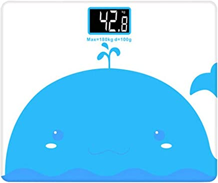 Yardwe Digital Body Fat Scales Electronic Health Weight Scale with Display Not Included Battery (Blue Whale)