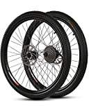 WXX Ruedas De Bicicleta De Montaña De 26 Pulgadas Y 21 Velocidades 700C Bicicleta De Aleación De Aluminio Llanta De Ciclismo De Doble Pared Rueda De Liberación Rápida De 36 Agujeros