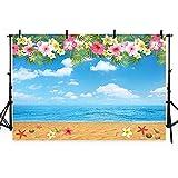 Foto Fondos cielo azul playa fotografía personalizada niños cumpleaños foto photobooth boda decorations-10x7ft