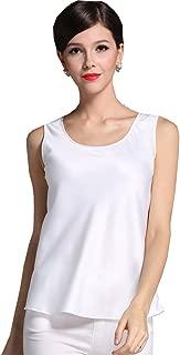 Fashion Silk Women's Shirts Blouse Silk Tank Tops