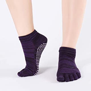Digging Hole Backless Non-Slip Fingers for Women 5 Pairs/Package Yoga Socks,Fully Breathable